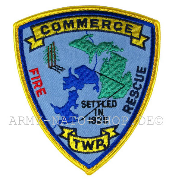 US Abzeichen Firefighter - Commerce