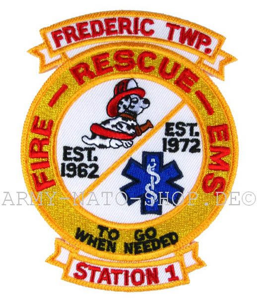 US Abzeichen Firefighter - Frederic Twp.