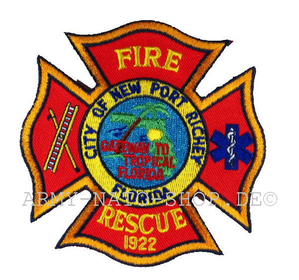 US Abzeichen Firefighter - City of new Port Richey