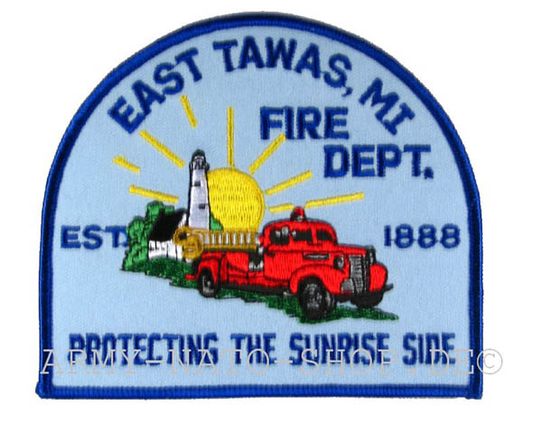 US Abzeichen Firefighter - East Tawas 1888