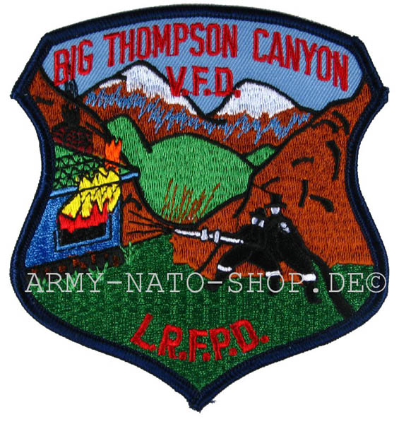 US Abzeichen Firefighter - Big Thompson Canyon