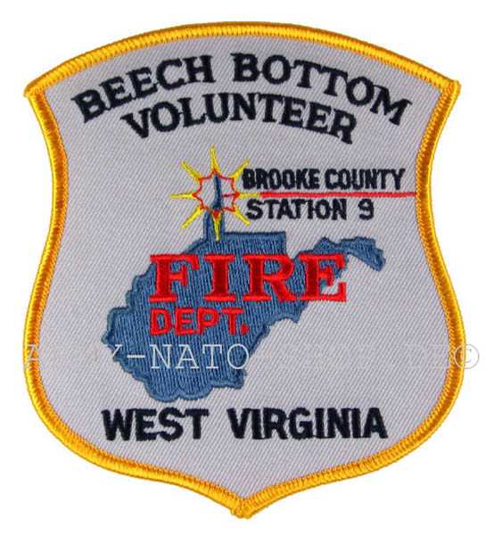 US Abzeichen Firefighter - Brooke County west virginia