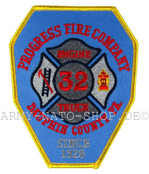 US Abzeichen Firefighter - Progress fire Company