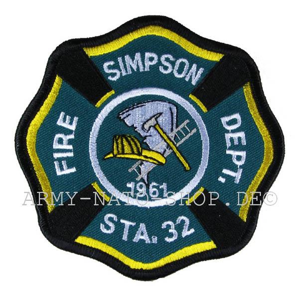 US Abzeichen Firefighter - Simpson 1926