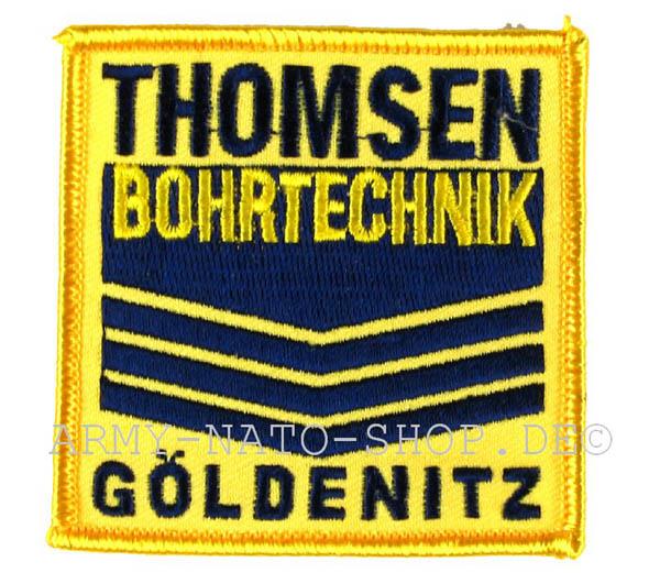 Aufnäher THOMSON BOHRTECHNIK GÖLDENITZ