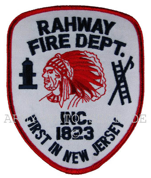 US Abzeichen Firefighter - Rahway 1923 New Jersey