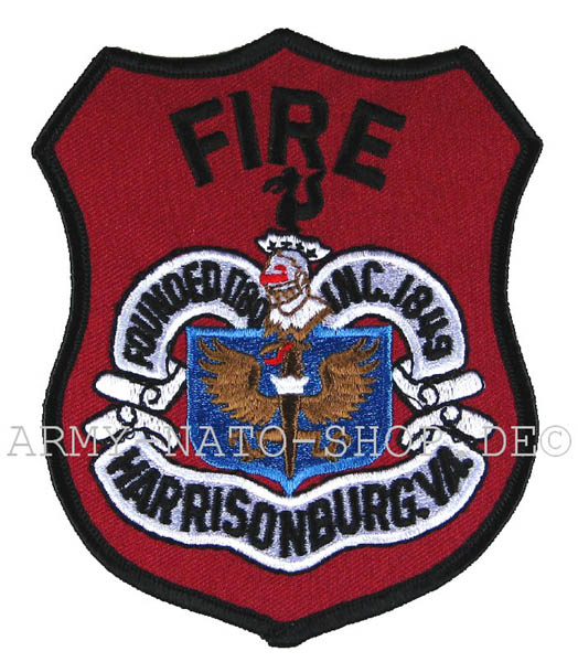 US Abzeichen Firefighter - Harrisonburg 1849