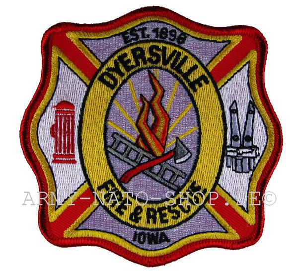 US Abzeichen Firefighter - Dyersville 1989