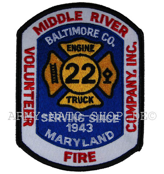 US Abzeichen Firefighter - Middle river Baltimore 1943
