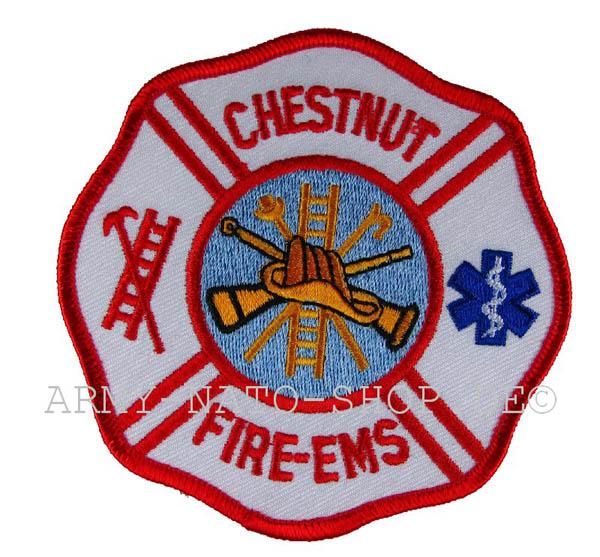 US Abzeichen Firefighter - Chestnut