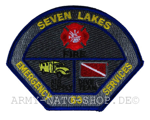 US Abzeichen Firefighter - SEVEN LAKES
