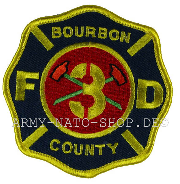 US Abzeichen Firefighter - Bourbon County