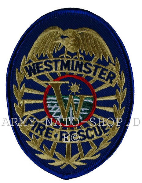 US Abzeichen Firefighter - Westminster