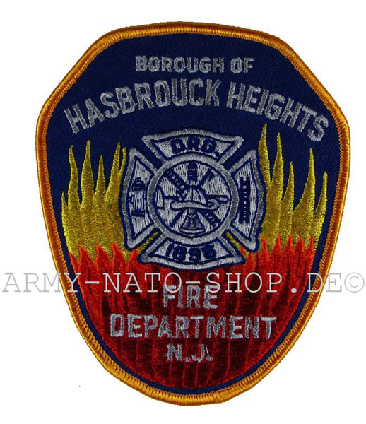 US Abzeichen Firefighter - Borough of Hasbrouck Heights