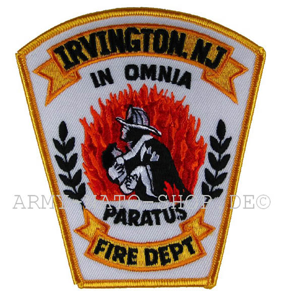 US Abzeichen Firefighter - Irvington in Omina
