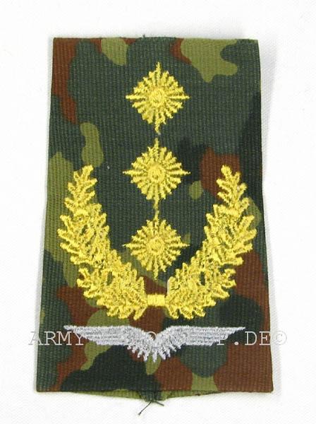 Rangabzeichen, Bw Heer tarn/gold General-Leutnant Flieger