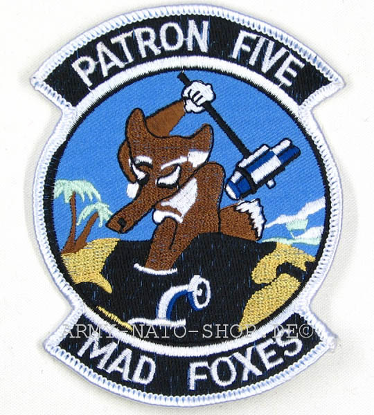 U.S. Abzeichen POTRON FIVE MAD FOXES