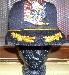 Baseball Cap,schwarz mit Motiv und  Netz