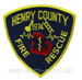 US Abzeichen Firefighter - Henry County