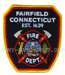US Abzeichen Firefighter - Fairfield Connecticut 1639