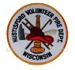 US Abzeichen Firefighter - Hustisford Wisconcin