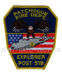 US Abzeichen Firefighter - Patchogue Explorer Post 519
