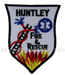 US Abzeichen Firefighter - Huntley