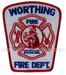 US Abzeichen Firefighter - Worthing