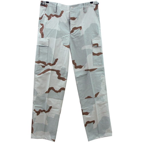 US-BDU Pant 3-colour-desert NYCO unwashed