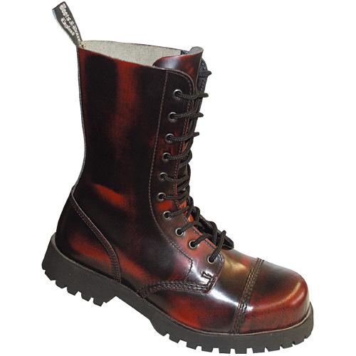 Boots & Braces 10-loch,burgundy rub-off