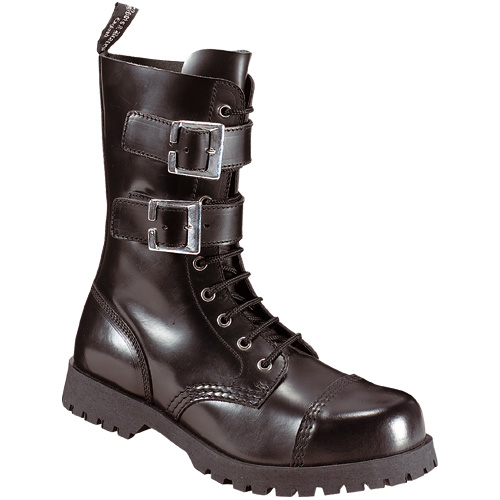 Boots & Braces 10-loch 2 Buckl ,schwarz
