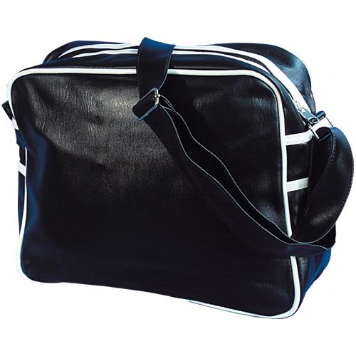 PVC Bag Retro uni ,schwarz/weiss
