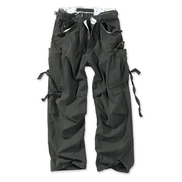 Vintage Fatigues Trousers - schwarz gewaschen