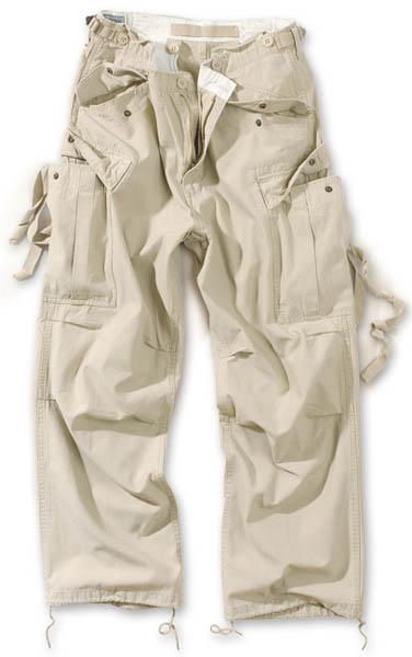 Vintage Fatigues Trousers - beige gewaschen