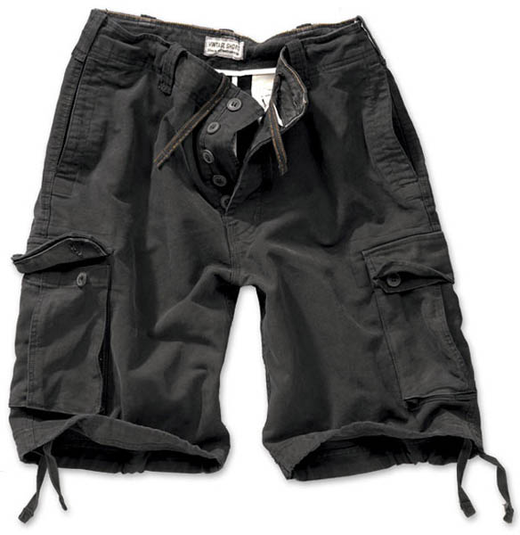 Vintage-Shorts - schwarz gewaschen