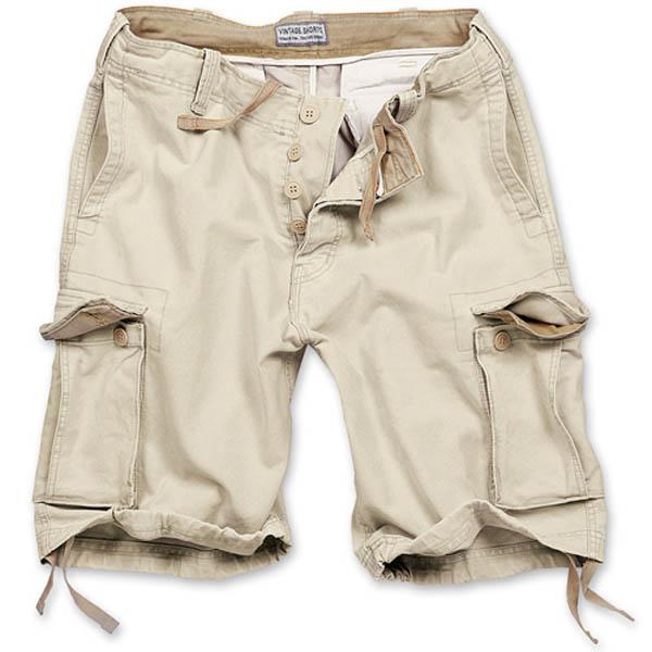 Vintage-Shorts - beige gewaschen