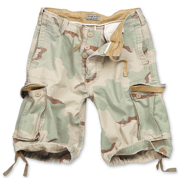 Vintage-Shorts - 3-Farben desert