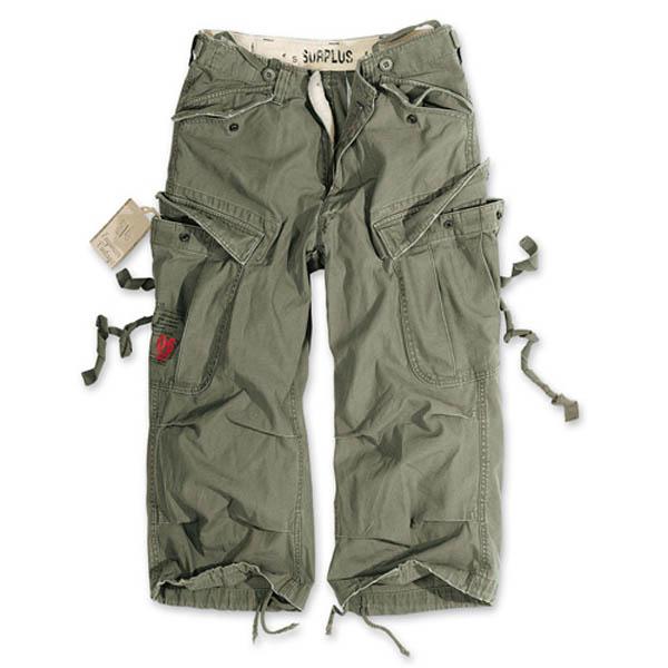 Engineer Vintage 3/4-Pants - oliv gewaschen