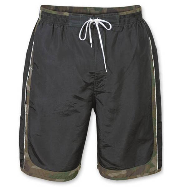 Swim Shorts - schwarz/woodland