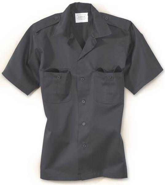 US-Army-Hemd, 1/2-Arm - schwarz