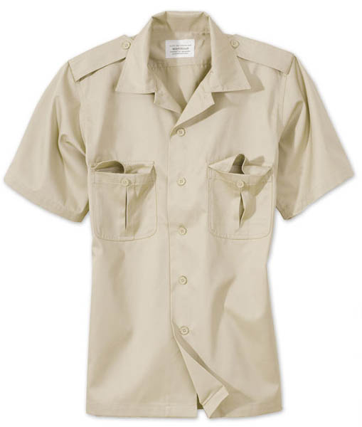US-Army-Hemd, 1/2-Arm - beige