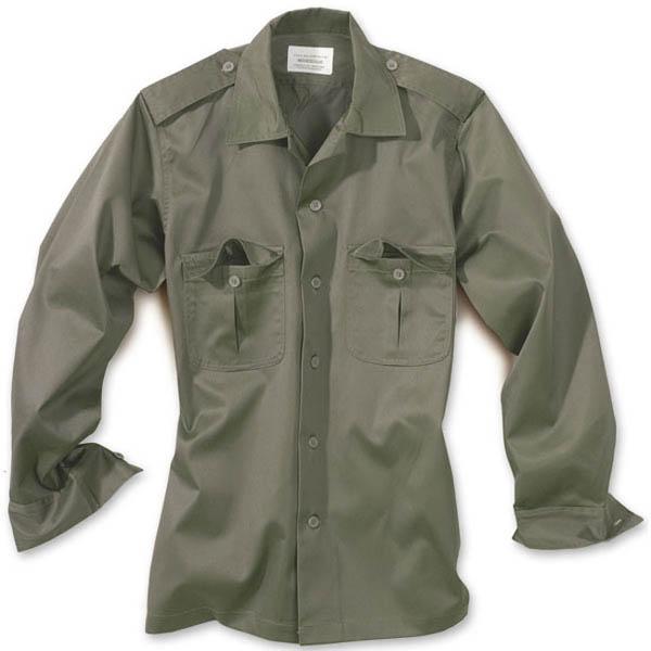 US-Army-Hemd, 1/1-Arm - oliv