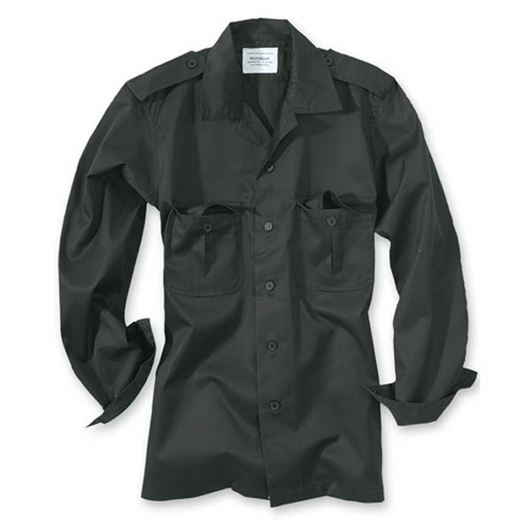 US-Army-Hemd, 1/1-Arm - schwarz