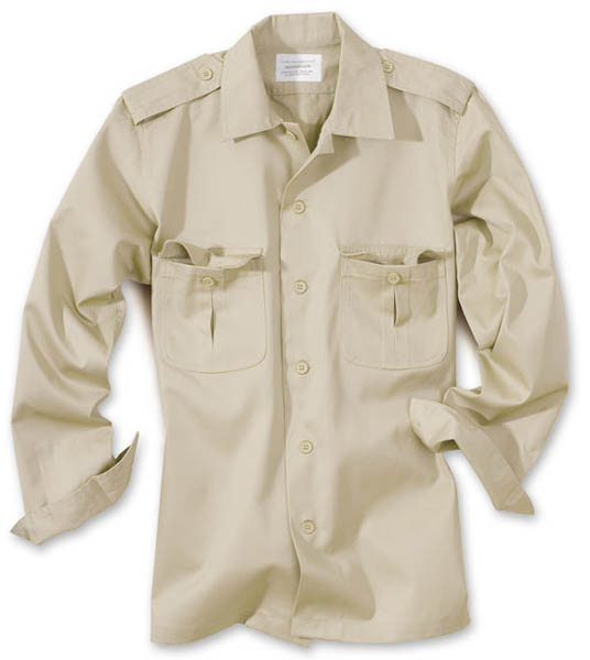 US-Army-Hemd, 1/1-Arm - beige