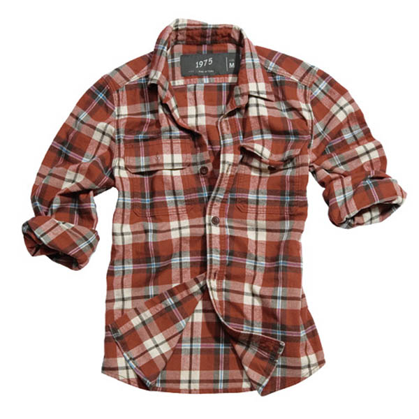 Wood Cutter Shirt - rot karo