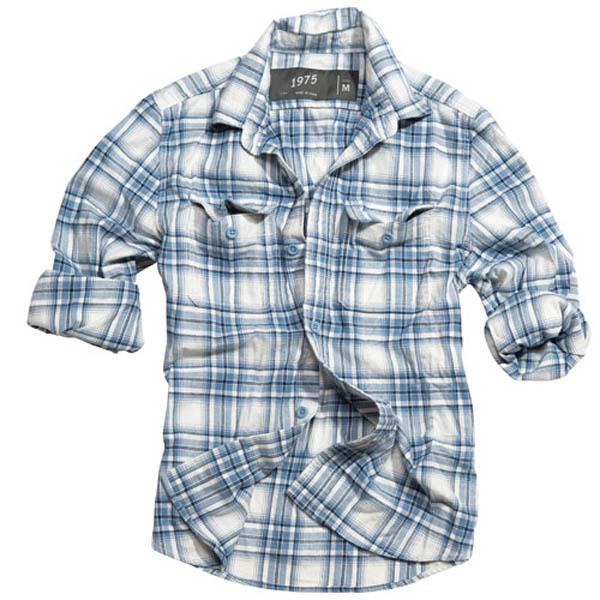 Wood Cutter Shirt - navy karo