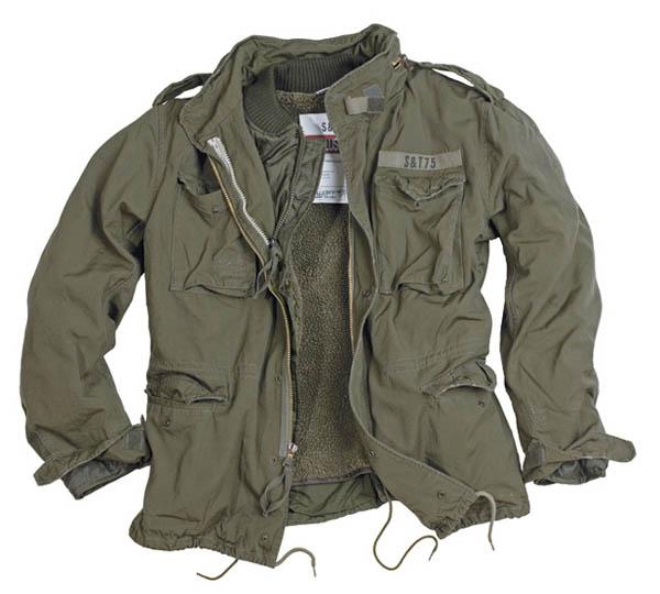 M65 Jacke Regiment - oliv gewaschen