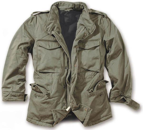 M65 Jacke washed - oliv gewaschen