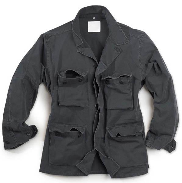 BDU Jacke - schwarz gewaschen