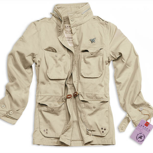 Ladies M65 Jacke - beige gewaschen